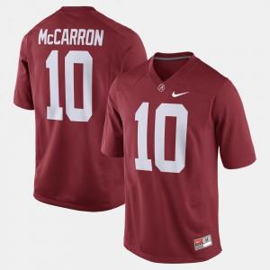 Crimson Men #10 A.J. McCarron Alabama Jersey Alumni Football Game 502291-990