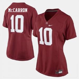#10 Red Women's A.J. McCarron Alabama Jersey College Football 600666-991