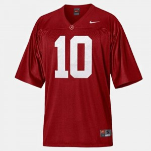 Red #10 Youth(Kids) College Football A.J. McCarron Alabama Jersey 707369-467