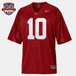 Red #10 College Football A.J. McCarron Alabama Jersey Men 161811-346