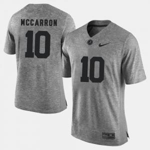Mens Gray #10 Gridiron Gray Limited Gridiron Limited A.J. McCarron Alabama Jersey 120446-499