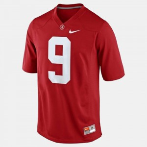 Men's #9 College Football Amari Cooper Alabama Jersey Red 308187-139