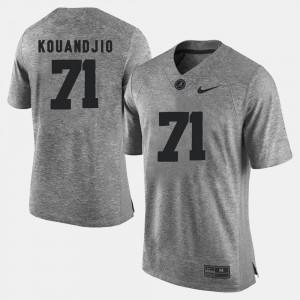 Arie Kouandjio Alabama Jersey Gridiron Limited #71 Gridiron Gray Limited Gray For Men's 672994-312