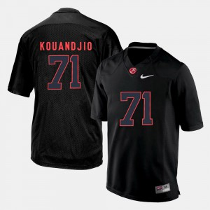 Black Silhouette College For Men's #71 Arie Kouandjio Alabama Jersey 716657-802
