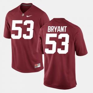 Bear Bryant Alabama Jersey Mens Crimson Alumni Football Game #53 352943-839