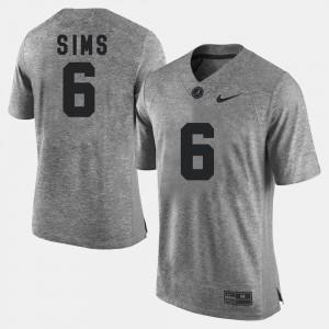 Gridiron Gray Limited Gray Blake Sims Alabama Jersey Men #6 Gridiron Limited 972794-559