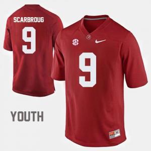 College Football #9 Crimson Youth(Kids) Bo Scarbrough Alabama Jersey 855456-172