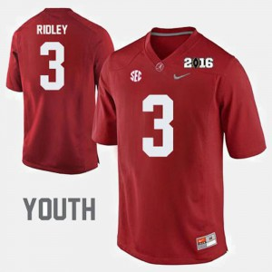 College Football Kids Calvin Ridley Alabama Jersey #3 Crimson 256937-515