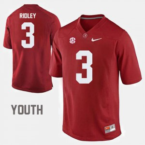College Football #3 Youth Calvin Ridley Alabama Jersey Red 795186-435
