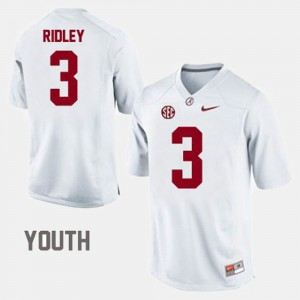 Calvin Ridley Alabama Jersey White #3 Youth College Football 779893-711