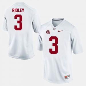 Men College Football White Calvin Ridley Alabama Jersey #3 451731-531