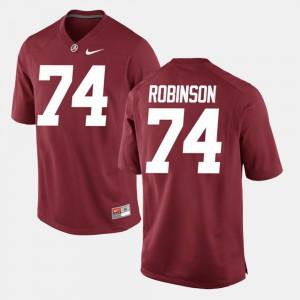 For Men #74 Alumni Football Game Cam Robinson Alabama Jersey Crimson 434380-215