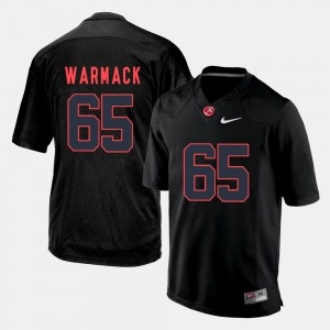Black Chance Warmack Alabama Jersey For Men's #65 Silhouette College 959260-684