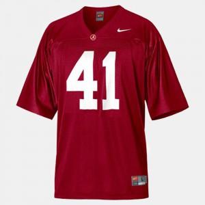 Red Courtney Upshaw Alabama Jersey #41 Mens College Football 630358-233