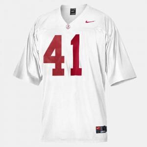 College Football #41 Men's White Courtney Upshaw Alabama Jersey 389945-341