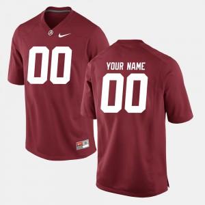 Crimson #00 Men College Football Alabama Custom Jersey 223934-514
