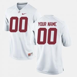 #00 White College Football Men's Alabama Customized Jersey 813379-642