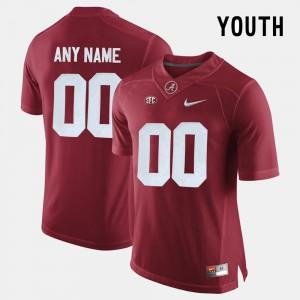 Crimson Alabama Custom Jersey College Limited Football Youth(Kids) #00 678062-194