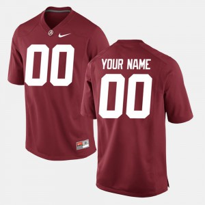 #00 College Limited Football Alabama Customized Jersey For Men's Crimson 518242-467