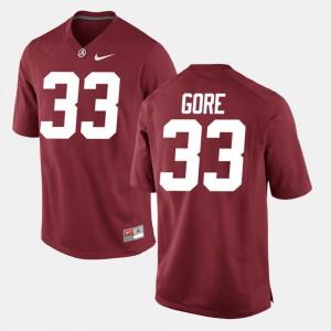 Crimson Derrick Gore Alabama Jersey Alumni Football Game #33 Men 682062-365