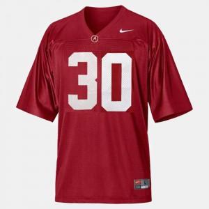 College Football Men #30 Red Dont'a Hightower Alabama Jersey 125743-488