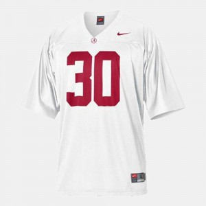 #30 Dont'a Hightower Alabama Jersey College Football White For Kids 903316-143
