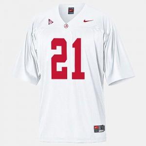 #21 White Dre Kirkpatrick Alabama Jersey For Men's College Football 716787-601