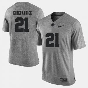 Dre Kirkpatrick Alabama Jersey Men's Gray #21 Gridiron Limited Gridiron Gray Limited 967049-859