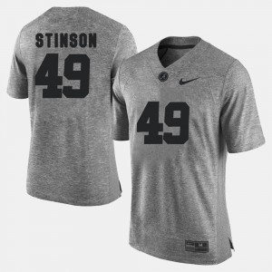 #49 Ed Stinson Alabama Jersey Gridiron Limited Gray Gridiron Gray Limited Men's 590219-320