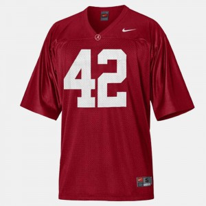 Eddie Lacy Alabama Jersey For Men's College Football #42 Red 216938-239
