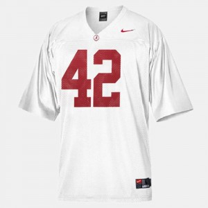 #42 Eddie Lacy Alabama Jersey White College Football Mens 952167-671