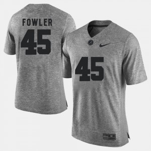Gridiron Limited Jalston Fowler Alabama Jersey For Men's Gray #45 Gridiron Gray Limited 440233-145