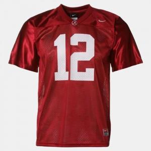 For Kids #12 College Football Joe Namath Alabama Jersey Red 737590-411