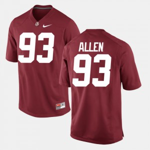 Crimson Alumni Football Game Men's Jonathan Allen Alabama Jersey #93 850966-665