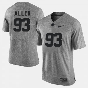 #93 For Men Gray Gridiron Gray Limited Gridiron Limited Jonathan Allen Alabama Jersey 677102-916