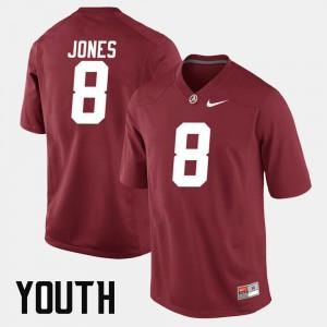 Crimson Alumni Football Game #8 Youth Julio Jones Alabama Jersey 723669-542
