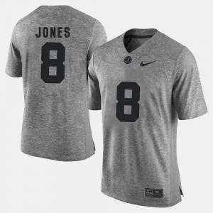 #8 Mens Gridiron Gray Limited Julio Jones Alabama Jersey Gridiron Limited Gray 143040-958