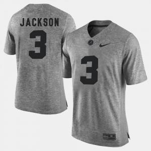 Mens Gridiron Gray Limited #3 Gridiron Limited Kareem Jackson Alabama Jersey Gray 694565-687
