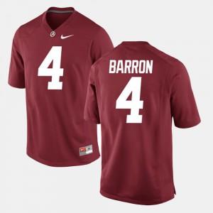Alumni Football Game #4 Crimson For Men's Mark Barron Alabama Jersey 531820-969