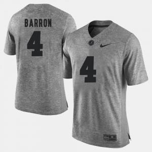 Gridiron Gray Limited Gray Mark Barron Alabama Jersey Gridiron Limited For Men #4 608251-660