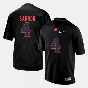 Men Silhouette College Black Mark Barron Alabama Jersey #4 212756-477