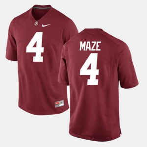 Marquis Maze Alabama Jersey Crimson #4 Alumni Football Game For Men 921586-985