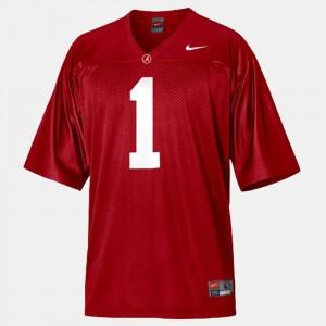 Youth Nick Saban Alabama Jersey Red College Football #1 409985-613