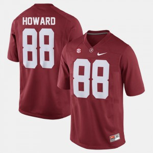 #88 College Football O.J. Howard Alabama Jersey For Men's Red 921092-366