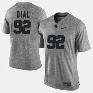For Men's Gray Quinton Dial Alabama Jersey #92 Gridiron Limited Gridiron Gray Limited 417795-454