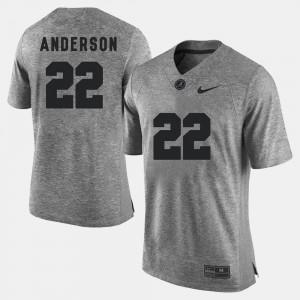 Ryan Anderson Alabama Jersey Gridiron Limited Men's Gridiron Gray Limited #22 Gray 605584-812