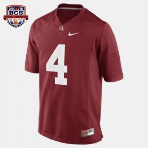 Youth T.J. Yeldon Alabama Jersey Red #4 College Football 152625-530