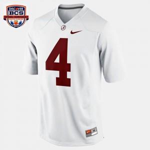 College Football T.J. Yeldon Alabama Jersey White #4 For Kids 773832-823