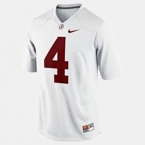 College Football White T.J. Yeldon Alabama Jersey #4 Mens 747671-991