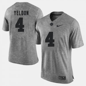 #4 T.J. Yeldon Alabama Jersey Gridiron Gray Limited Gray For Men's Gridiron Limited 485144-702